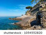 view of mediterranean sea an... | Shutterstock . vector #1054552820