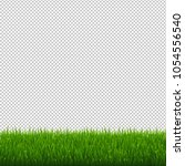 green grass border transparent... | Shutterstock .eps vector #1054556540