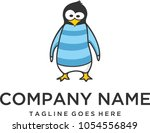 penguins wear clothes and look... | Shutterstock .eps vector #1054556849