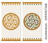 set with two cards with floral... | Shutterstock .eps vector #1054567268