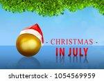 golden christmas ball with... | Shutterstock . vector #1054569959