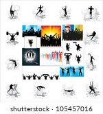set. icons for sports... | Shutterstock .eps vector #105457016