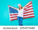 i love america. happy young... | Shutterstock . vector #1054574480