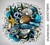 cartoon vector doodles...   Shutterstock .eps vector #1054574894