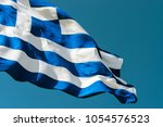 Flag Of Greece Against The Blu...
