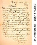 old vintage manuscript writing... | Shutterstock . vector #1054576868