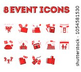 8 event icons set. flat...   Shutterstock .eps vector #1054581530