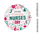 international nurse day image.... | Shutterstock .eps vector #1054581614