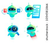 chatbot  set  write answer to... | Shutterstock .eps vector #1054581866