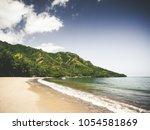 beach on oahu  hawai'i | Shutterstock . vector #1054581869