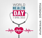 world health day concept. 7... | Shutterstock .eps vector #1054582016