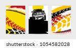 vector auto posters template.... | Shutterstock .eps vector #1054582028