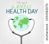 world health day concept. 7... | Shutterstock .eps vector #1054582070