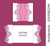 wedding invitation card with...   Shutterstock .eps vector #1054582244