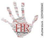vector concept conceptual hr or ... | Shutterstock .eps vector #1054583060