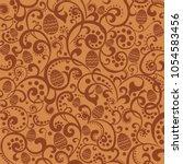 happy easter  elegant brown... | Shutterstock . vector #1054583456