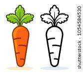 illustration of carrot icon on... | Shutterstock .eps vector #1054584530
