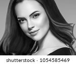 woman close up beauty face... | Shutterstock . vector #1054585469
