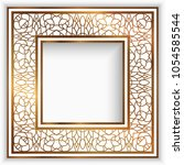 square photo frame with gold...   Shutterstock .eps vector #1054585544