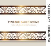 vintage gold frame with... | Shutterstock .eps vector #1054585550