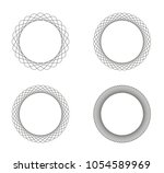 collection of 4 black line... | Shutterstock .eps vector #1054589969