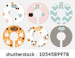 set of fashion baby closet... | Shutterstock .eps vector #1054589978