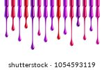 pink red and purple nail polish ... | Shutterstock .eps vector #1054593119