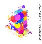 the style of abstract art ... | Shutterstock .eps vector #1054597934