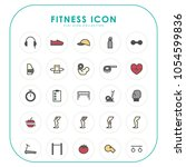 fitness icons  | Shutterstock .eps vector #1054599836