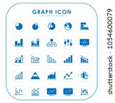 graph icons  | Shutterstock .eps vector #1054600079