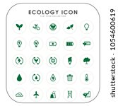 ecology icons  | Shutterstock .eps vector #1054600619