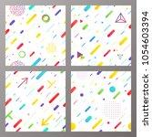 trendy geometric elements... | Shutterstock .eps vector #1054603394