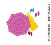 vector cartoon travelling ... | Shutterstock .eps vector #1054605218