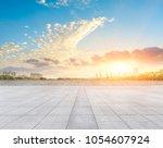 empty square floor and modern... | Shutterstock . vector #1054607924