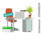 vacancy concept vector. office... | Shutterstock .eps vector #1054608254