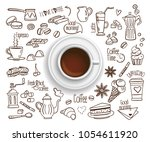 hand drawn design vector... | Shutterstock .eps vector #1054611920