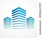 business building  modern...   Shutterstock .eps vector #1054611929