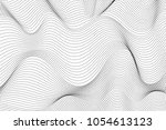 abstract techonology waves...   Shutterstock .eps vector #1054613123