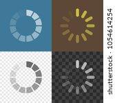loading icons. preloading... | Shutterstock .eps vector #1054614254