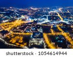 aerial night drone view on... | Shutterstock . vector #1054614944