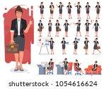 businesswoman character...   Shutterstock .eps vector #1054616624