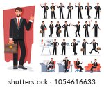 businessman character creation... | Shutterstock .eps vector #1054616633