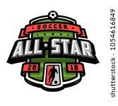 all stars of soccer  logo ...   Shutterstock .eps vector #1054616849