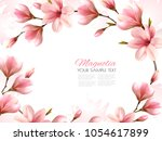 nature spring background with... | Shutterstock .eps vector #1054617899