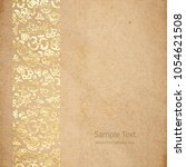 vintage old paper texture with... | Shutterstock .eps vector #1054621508
