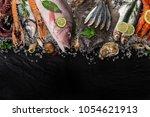 Fresh Tasty Seafood Served On...