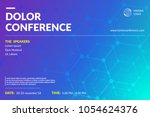conference flyer layout.... | Shutterstock .eps vector #1054624376