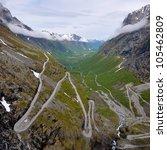 beautiful Norwegian landscape - stock photo