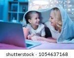grandmother and granddaughter...   Shutterstock . vector #1054637168