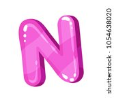 n pink glossy bright english... | Shutterstock .eps vector #1054638020